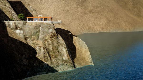 بناء شرفة زجاجية مطلة على بحيرة تورتوم التركية