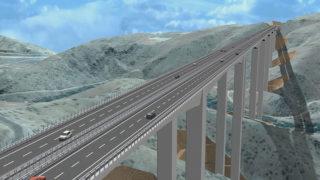 استمرار أعمال بناء ثاني أعلى جسر في العالم